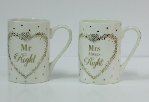 MADDOTS MR/MRS RIGHT MUGS